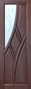 Межкомнатная дверь из массива Глория-01 ДОЧ Белоруссия ОКА + петли