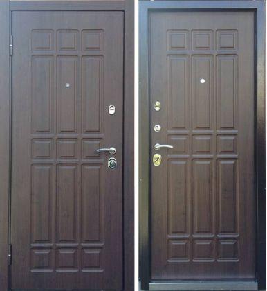 Дверь входная ТЕХНО 3 дуб мореный