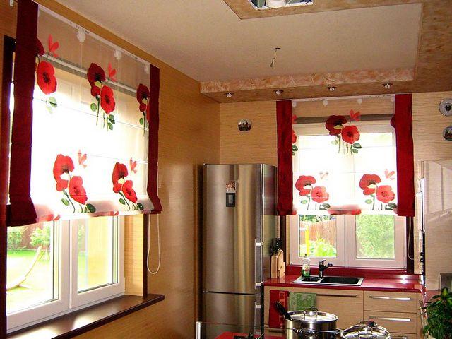 Японские шторы для кухни 2014
