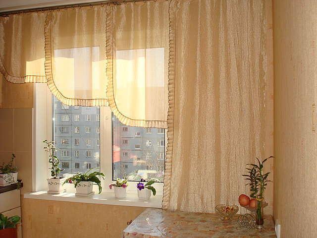 Нюдовая палитра штор для кухни 2014