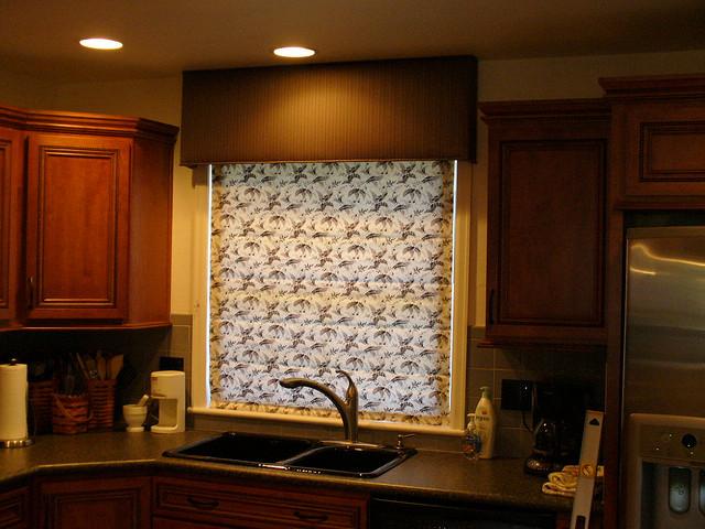 шторы на кухню двойные фото