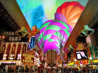 Fremont Street Downtown Las Vegas 2/10/06